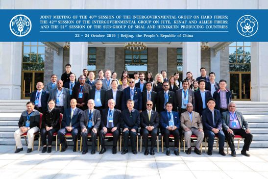 International Delegates from 11 countries in the Joint Meetings of the FAO at Beijing (China), 22-24 October 2019